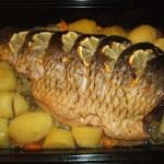 Рецепт карпа, запеченного в духовке с овощами